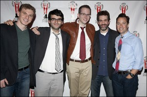 WE THE PEOPLE nominees: Adam Overett (music/lyrics), Joe Iconis (book/music/lyrics), Tommy Newman (music/lyrics), Kevin Del Aguila (music/lyrics), Gordon Greenberg (director)