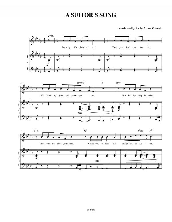 A Suitor's Song